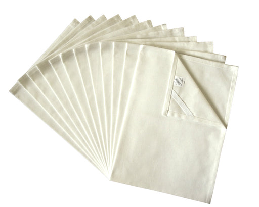Unbleached Flour Sack Towels, Real Natural Tea Towels, Set of 12