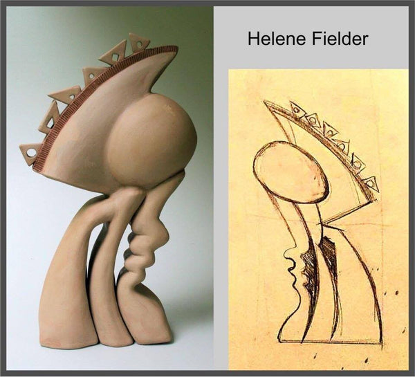 Encased Calm - Sculptural Clay by Helene Fielder