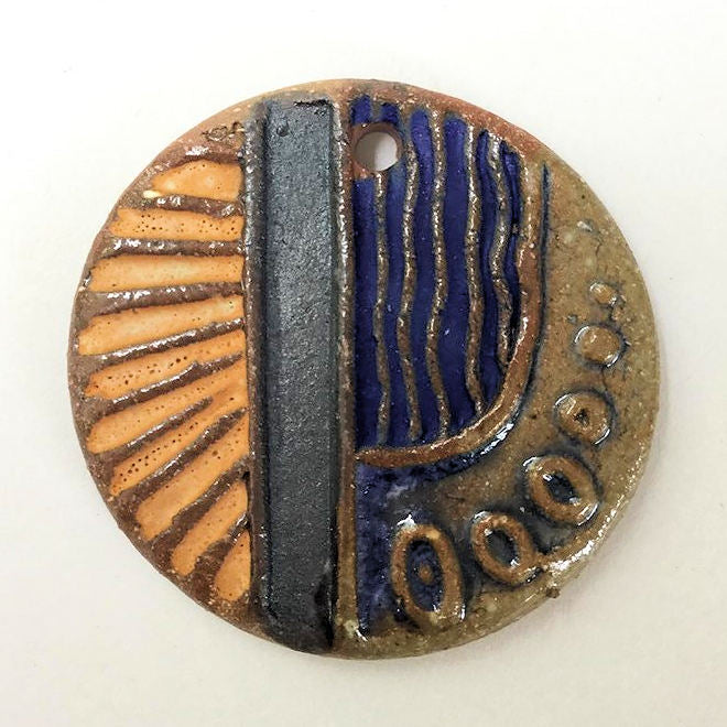 Pottery Focal Bead Circle