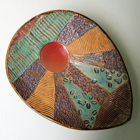 Abstract Sun Pottery Platter