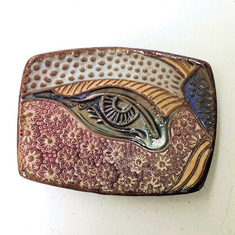 Abstract Eye Tray Soap Dish Spoon Rest Jewelry Dish Ramekin Handmade