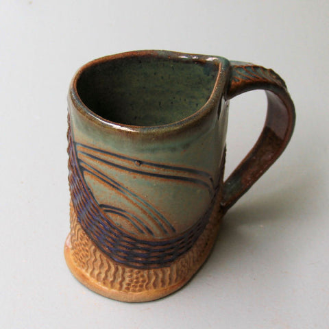 Abstract mug by Helene Fielder