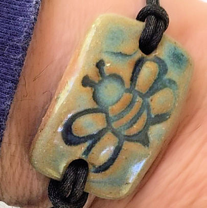 Bee Bracelet Bead Rectangle
