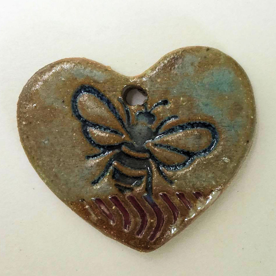Bee Bead Heart Shape