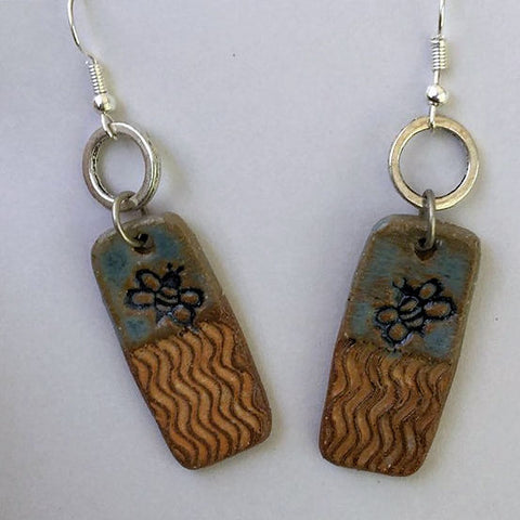 Bee Design clay earings