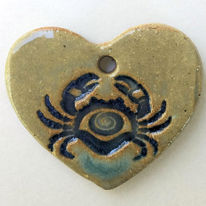 Crab Design Bead Heart Shape