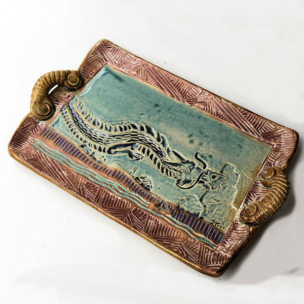Dragon Platter Microwave and Dishwasher Safe