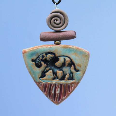 Elephant Essential Oil Pendant Pottery Clay Terracotta Aromatherapy