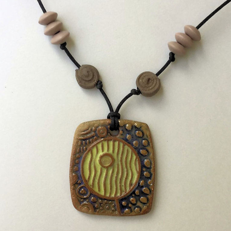 Abstract Design Bead Oil Diffuser Pendant