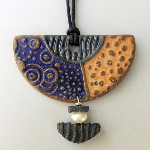 Modern Clay Pendant Necklace