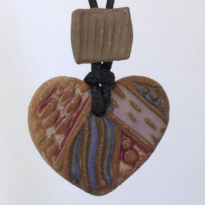 Heart Shaped Rear View Mirror oil diffuser clay pendant