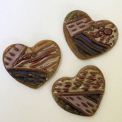 Oil Diffuser Pendant Heart Shaped Pottery Clay Handmade