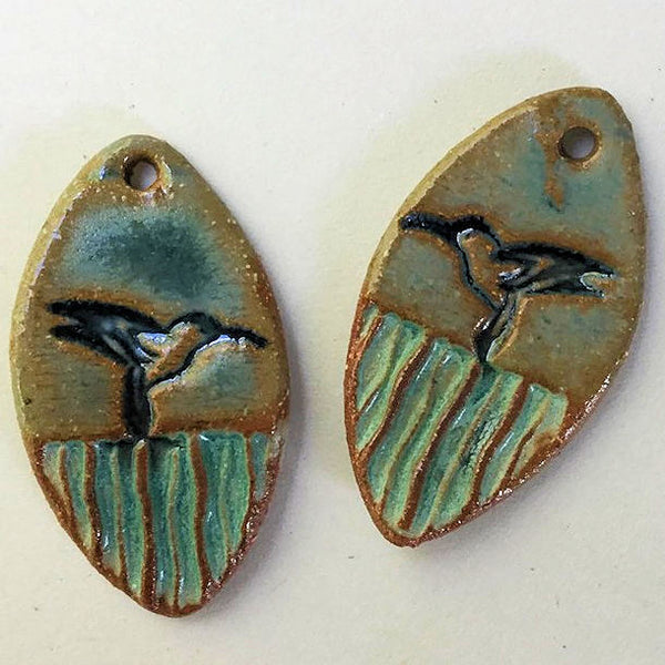 Hummingbird Earring Beads Marque - set of two