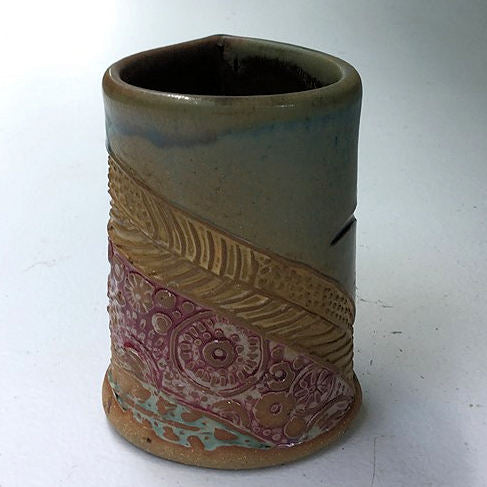 Hummingbird Pottery Mug Coffee Cup Handmade Functional Tableware  Safe 12 oz