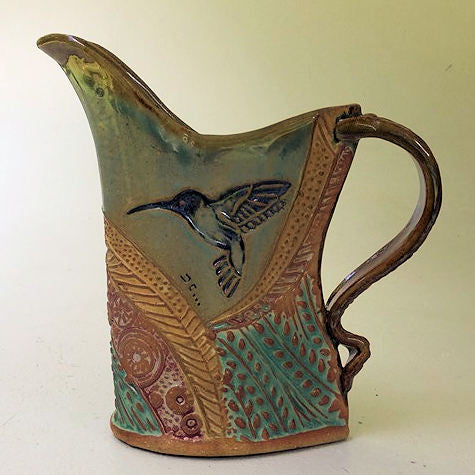 Hummingbird Pottery Pitcher Microwave and Dishwasher Safe Tableware