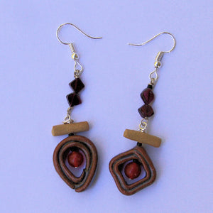 Carnelian and garnet earings