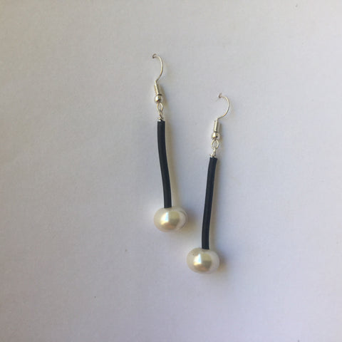 Glass Pearl Earrings