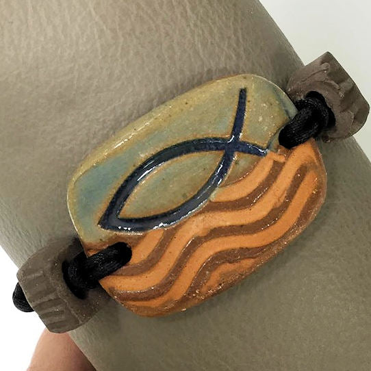Ichthys Symbol Bracelet Rectangle Shaped Essential oil diffuser