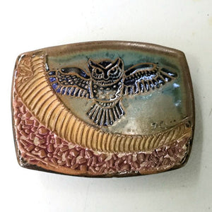 Owl Tray Soap Dish Spoon Rest Sauce Dish or Jewelry Holder Handmade Microwave and Dishwasher Safe
