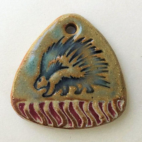 Porcupine Focal Bead Triangle