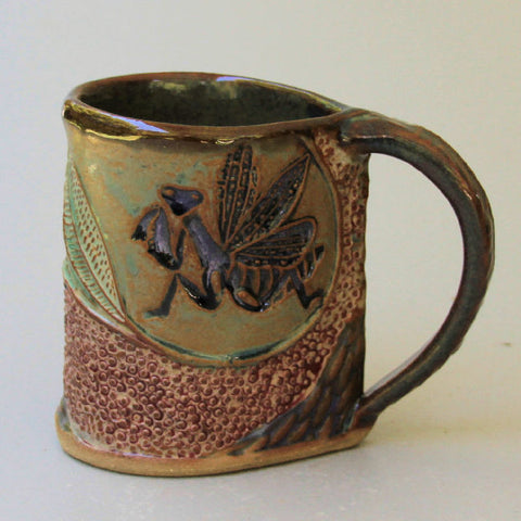 Praying Mantis mug by Helene Fielder