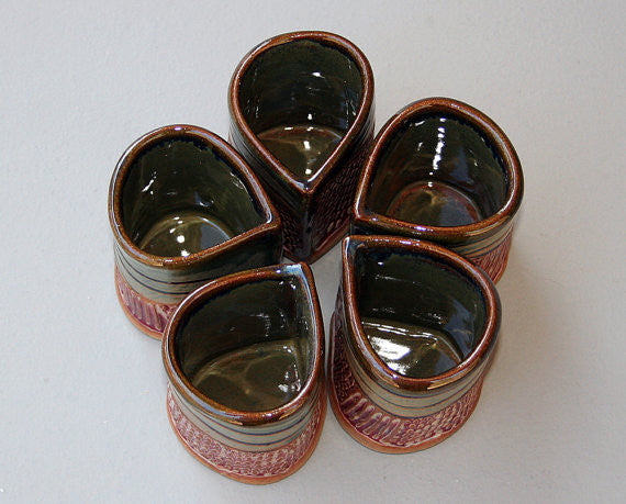 Stoneware Saki Set with 5 cups