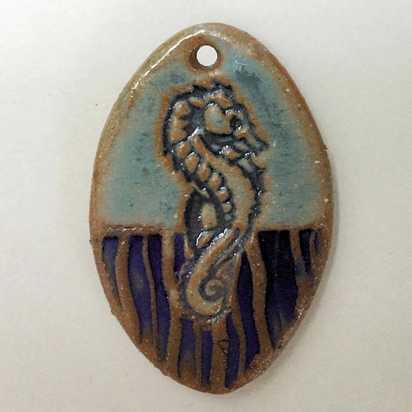 Sea Horse Bead Oval