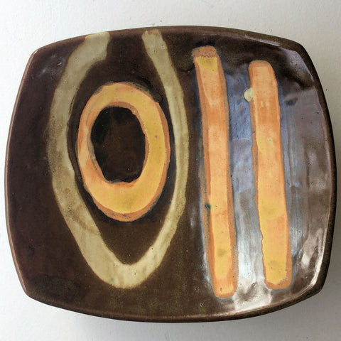 Abstract Platter Tableware Pottery Hand Made