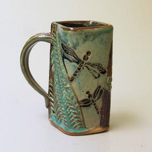 Dragonfly mug by Helene Fielder