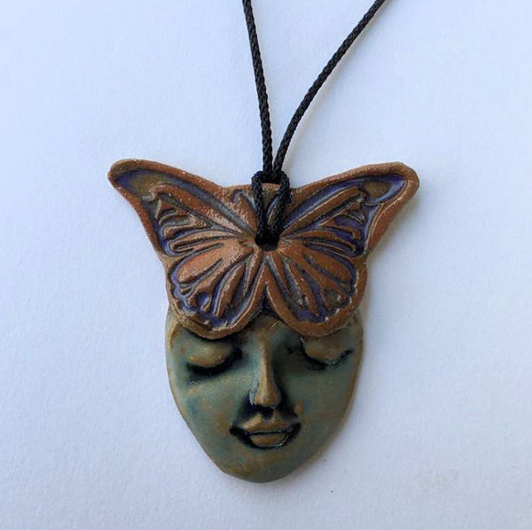 Sernity Butterfly Pendants for Necklaces.   Clay Pottery Handmade