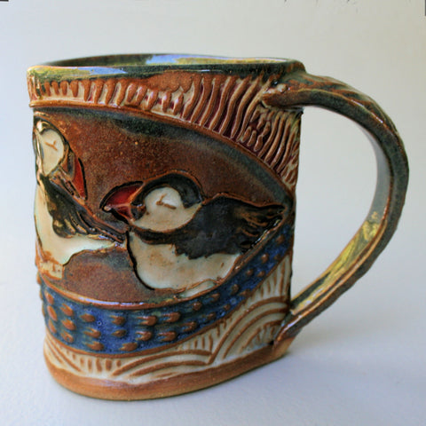Puffin mug by Helene Fielder