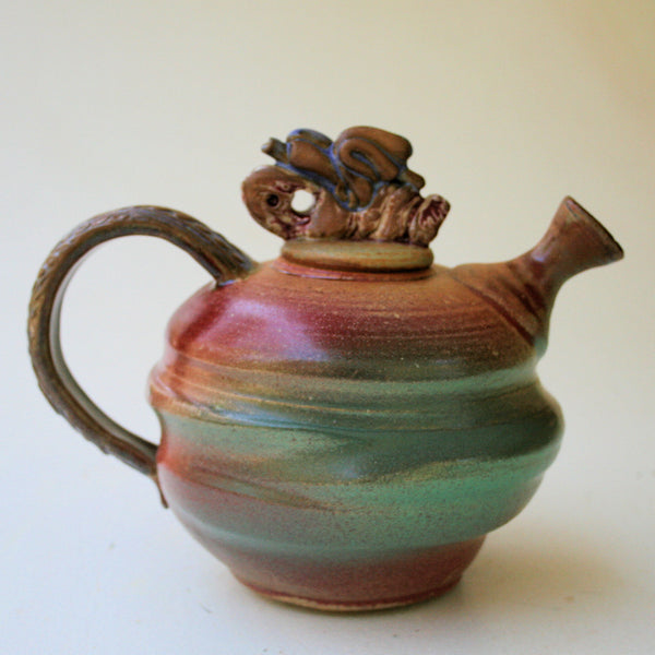 Tea Pot Pottery Functional Microwave and Dishwasher Safe