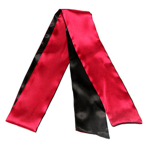 Black & Red Satin Blindfold