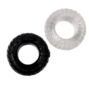 Black & White Tyre Cock Rings