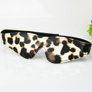Leopard Print Leather Blindfold Mask