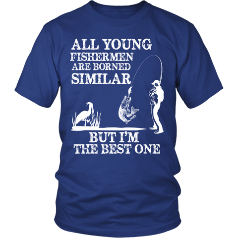 YOUNG AND BEST FISHERMAN SHIRT