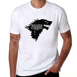 Game Of Thrones Winter Is Coming Stark Blood Wolf Men T Shirt