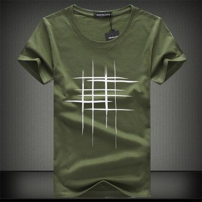 2018 Simple Creative Design Line Cross Print Cotton T Shirts - ShirtSpice