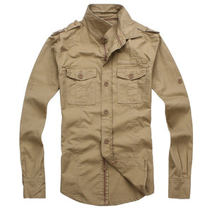 Man Military Casual Shirts