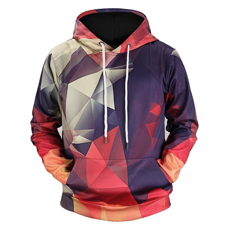 Geometric  3D Men's Streetwear Hoodies