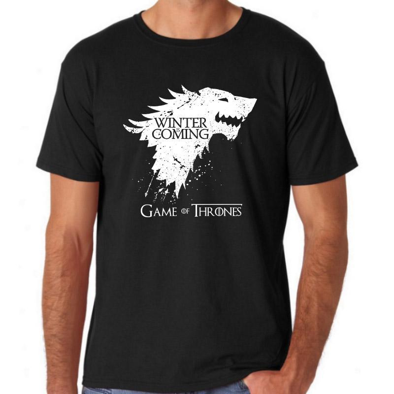 Short Sleeve Game of Thrones Print Men's T shirt