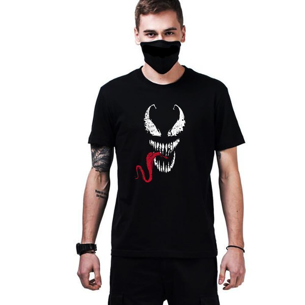 Venom spiderman Printed Black T-Shirt - ShirtSpice