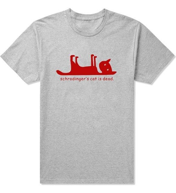 Schrodingers Cat is Dead FUNNY PRINTED MENS T-SHIRT