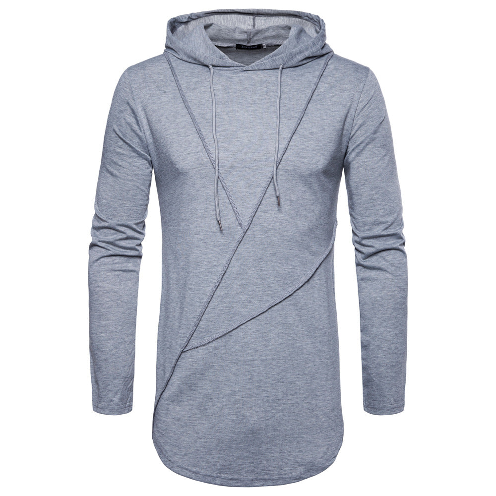 Long Hooded Men's T Shirt - ShirtSpice