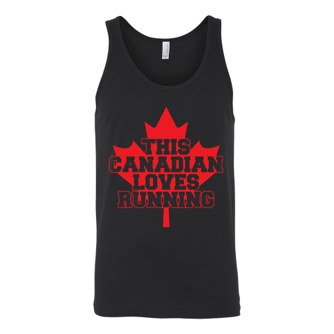 Canadian Loves Running  Tank - ShirtSpice