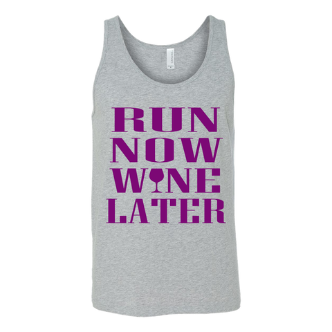 Run Now Wine Later Tank - ShirtSpice