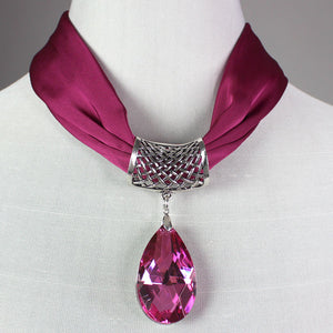 12 Pack<br>Satin Necklace w/<br>Magnetic Clasp and Pendant