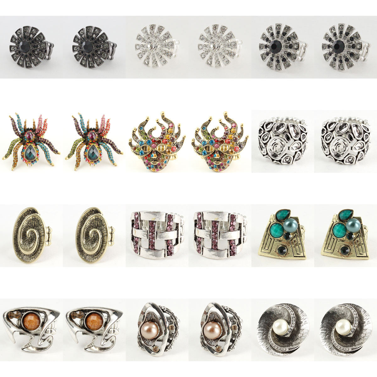 24 Pack Fashion STRETCH RINGs