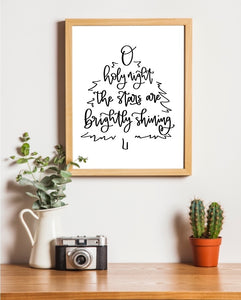 O Holy Night 8x10 free printable