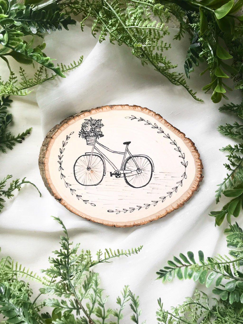 Floral bicycle - mini round